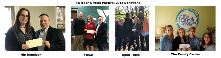 TN Beer Festival Donations 2018